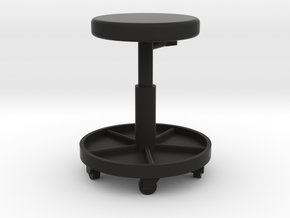 1/10 Scale Shop Stool in Black Natural Versatile Plastic