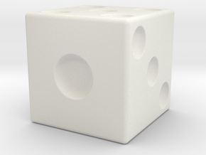 Giant Dice in White Natural Versatile Plastic