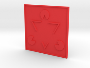 Magnet2 in Red Processed Versatile Plastic