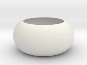 Constant Positive Gauss Curvature, bulge type in White Natural Versatile Plastic
