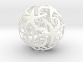 Interlocking Stars in White Processed Versatile Plastic