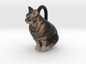 Custom Cat Ornament - Alfie in Full Color Sandstone