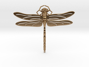 Dragonfly in Natural Brass