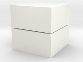 Cubic 1x1x2 2cm in White Processed Versatile Plastic