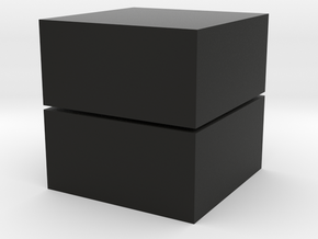 Cubic 1x1x2 3cm  in Black Natural Versatile Plastic