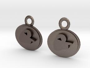 Phantom Of The Opera Earrings in Polished Bronzed Silver Steel