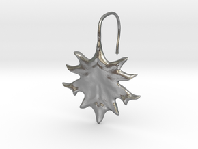Oak Leaf Earring (~16 gauge wire thickness) in Natural Silver