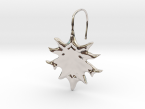 Oak Leaf Earring (~16 gauge wire thickness) in Platinum