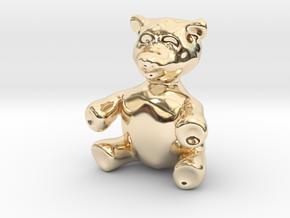 "BIG (3"") Teddy Bear! in 14K Yellow Gold"