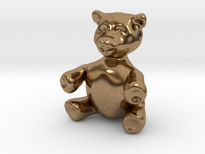 "BIG (3"") Teddy Bear! in Natural Brass"
