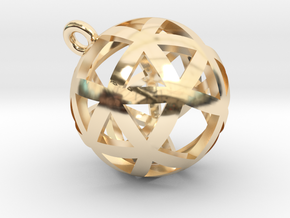 Pendentif Sphérique - Pendent Sphere in 14K Yellow Gold