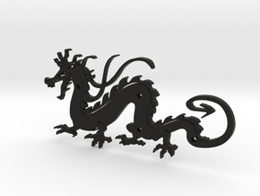 Dragon in Black Natural Versatile Plastic