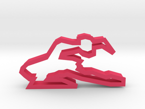 Ballerina 90 Cookie Cutter in Pink Processed Versatile Plastic