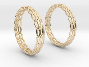 Wired Beauty 4 Hoop Earrings 30mm in 14K Yellow Gold