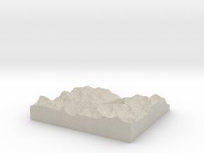 Model of Stechelberg in Sandstone