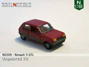 Renault 5 GTL (N 1:160) in Smooth Fine Detail Plastic