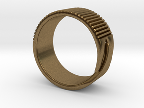 Rift Ring - EU Size 58 in Natural Bronze