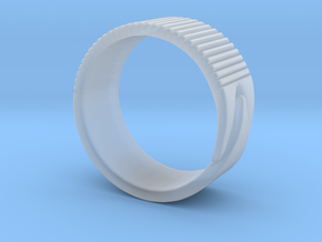Rift Ring - EU Size 58 in Smooth Fine Detail Plastic