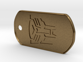 Autobot Dog Tag (Rimmed) in Natural Bronze