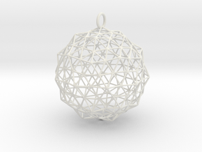 Christmas Bauble 1 in White Natural Versatile Plastic