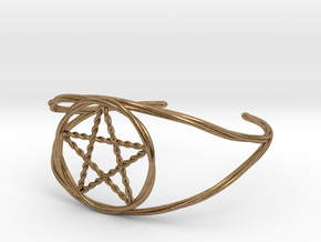 Woven Pentacle cuff/armband in Natural Brass