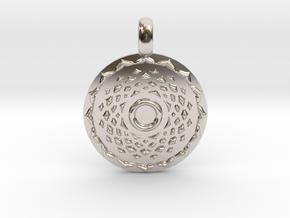 SAHASRARA Crown Chakra Jewelry Pendant in Platinum