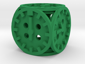 Dice7-clock in Green Processed Versatile Plastic
