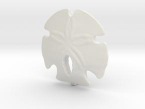 Sand Dollar Pendant in White Natural Versatile Plastic