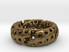 Volcanic Revival Ring in Natural Bronze