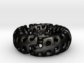 Volcanic Revival Ring in Matte Black Steel