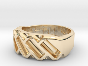 US7 Ring XVII: Tritium in 14k Gold Plated Brass