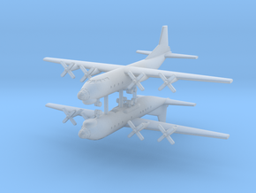 1/700 AN-12 (Cub) Transport Aircraft (x2) in Frosted Ultra Detail