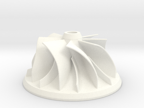Turbocharger Impeller in White Processed Versatile Plastic