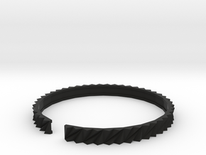 Arch1 - Small plastic bracelet. in Black Natural Versatile Plastic