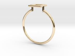 Open Square Ring Sz. 8 in 14K Yellow Gold