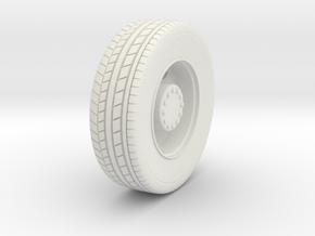 1/87 HO Seagrave Tiller Wheel in White Strong & Flexible