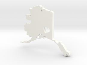 I Love Alaska Pendant in White Processed Versatile Plastic