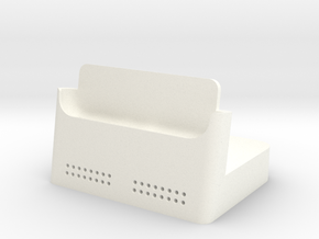 Iphone 6 Plus Dock in White Processed Versatile Plastic