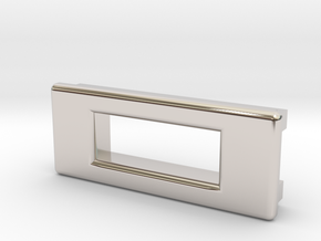 Screen Cradle - Rectangle with Filet Edges in Platinum