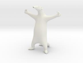 "Anteater 10"" Tall in White Natural Versatile Plastic"