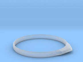 Edge Ring US Size 8 UK Size Q in Smooth Fine Detail Plastic