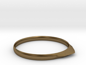 Edge Ring US Size 6 UK Size M in Natural Bronze