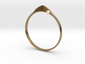 Edge Ring US Size 7 UK Size O in Natural Brass