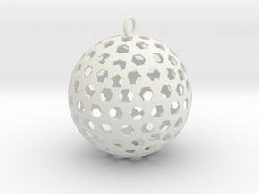 Christmas Bauble 8 in White Strong & Flexible