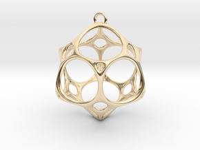 Christmas Bauble No.2 in 14K Yellow Gold