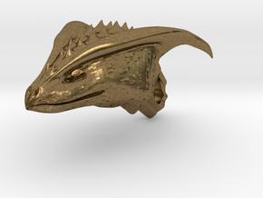 Dragon Head pendant in Natural Bronze