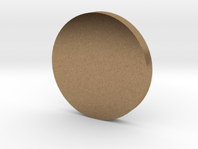Coin in Natural Brass