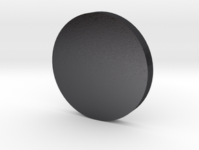 Coin in Polished and Bronzed Black Steel