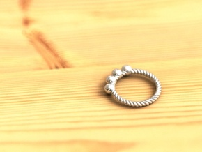 Spiral Ring  in Fine Detail Polished Silver