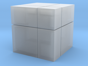 Mirror Blocks 2x2 in Smooth Fine Detail Plastic
